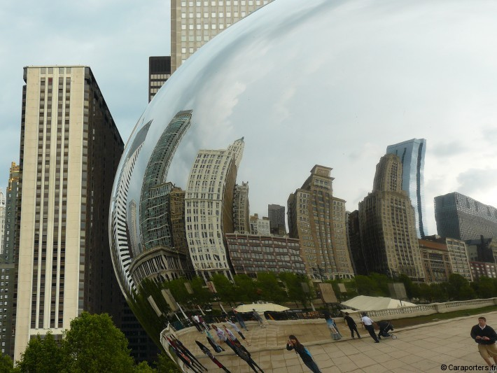 Cloud Gate et skyline