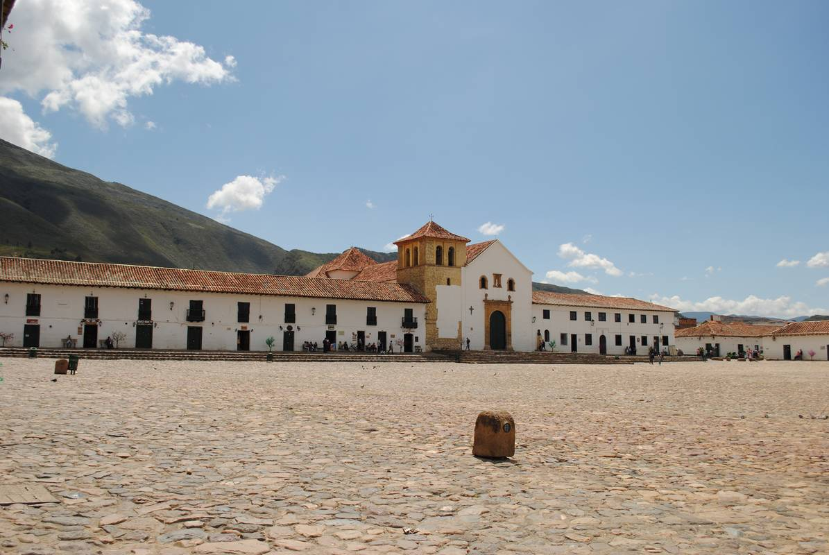 Colombie - Villa de Leyva - main place